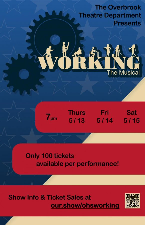 Official flyer for Overbrook's Spring musical, Working!